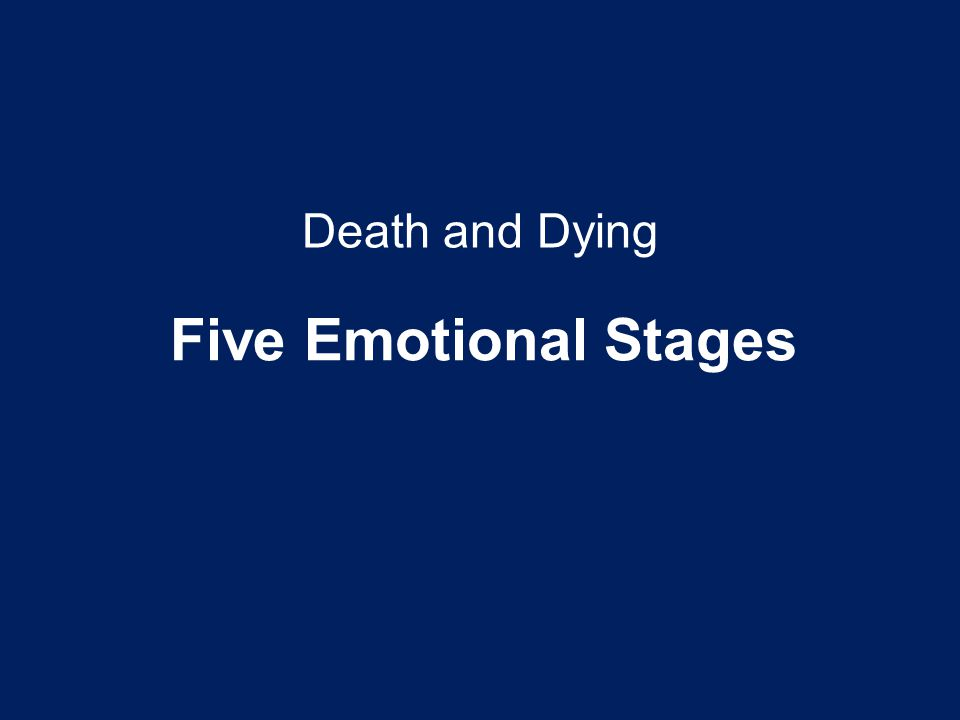 Death and Dying Five Emotional Stages