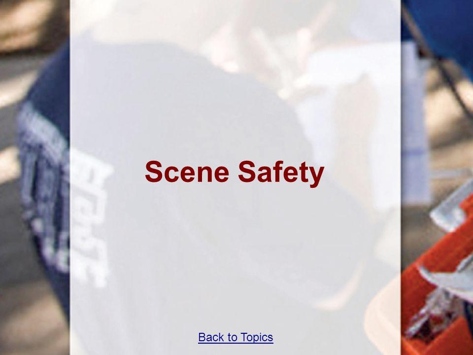 Back to Topics Scene Safety