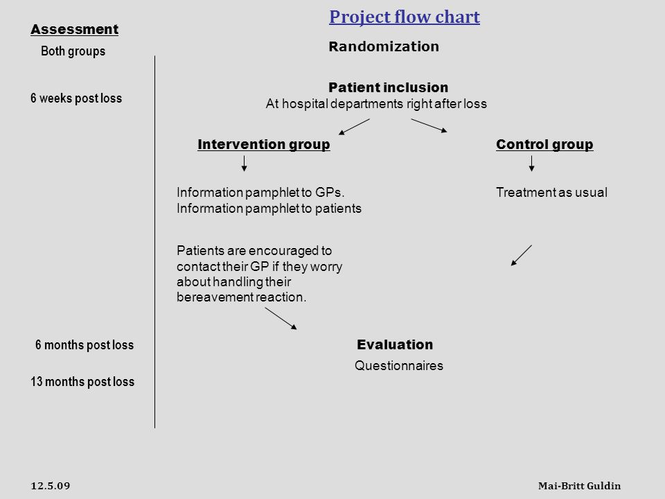 Project flow chart Patient inclusion Intervention groupControl group Information pamphlet to GPs.