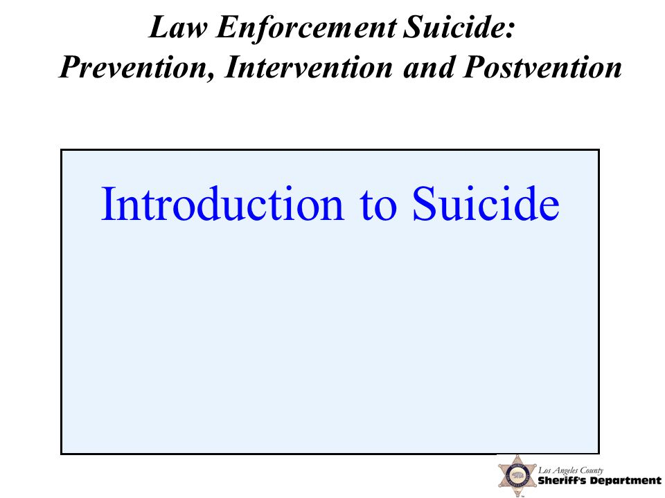 Intervention Dynamics of Suicide - Reality