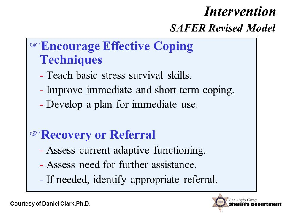  Encourage Effective Coping Techniques - Teach basic stress survival skills.
