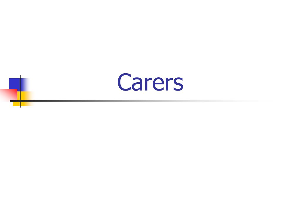 Why Care About Carers.Carers health suffers as a result.