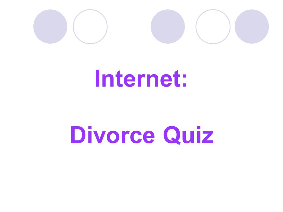 Internet: Divorce Quiz