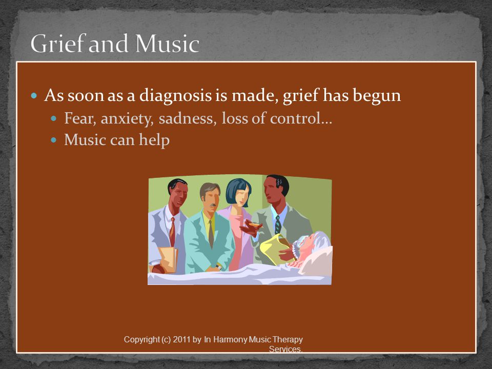 American Music Therapy Association www.musictherapy.org www.musictherapy.org In Harmony MT Services/ MeSongs www.musictherapyservices.com Jana Stanfield/Keynote Concerts Inc.