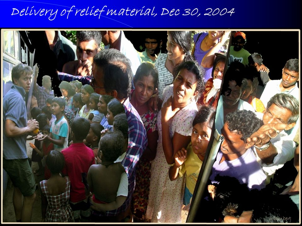 20 Delivery of relief material, Dec 30, 2004