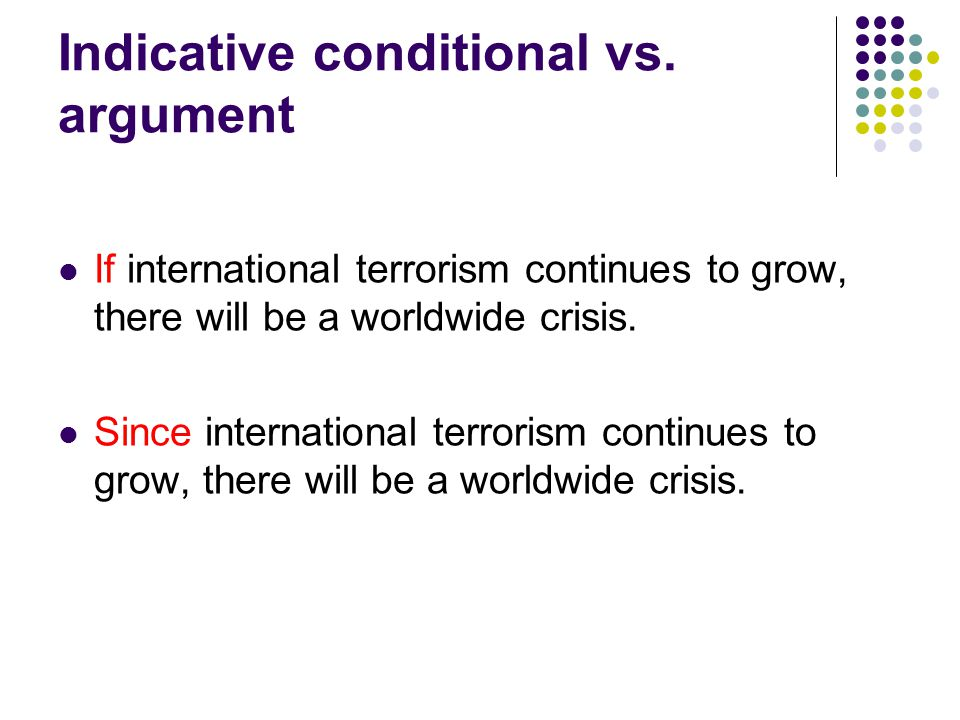 Indicative conditional vs.