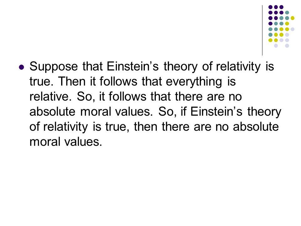 Suppose that Einstein's theory of relativity is true.