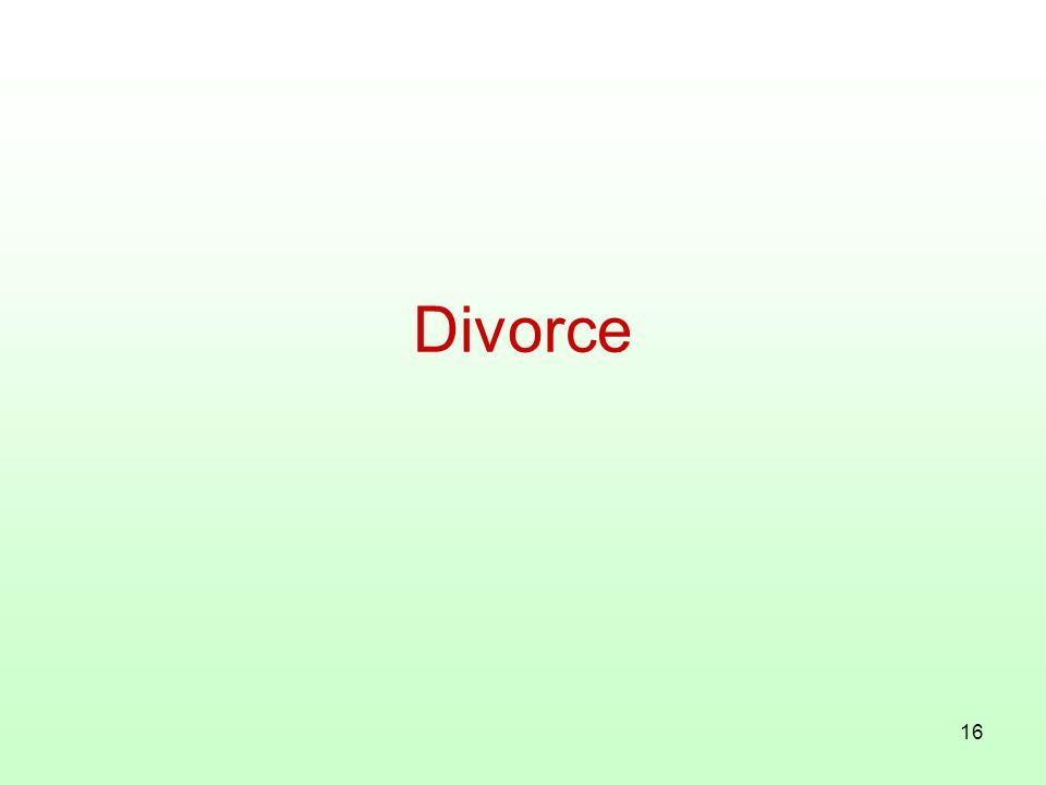 16 Divorce