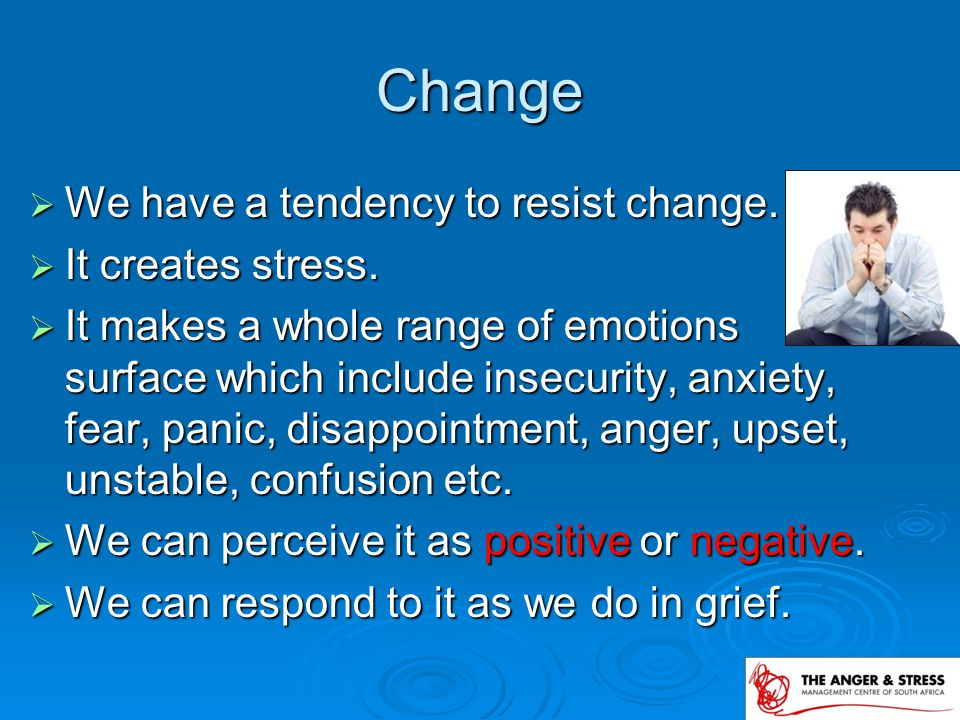 5 stages of Grief or Change