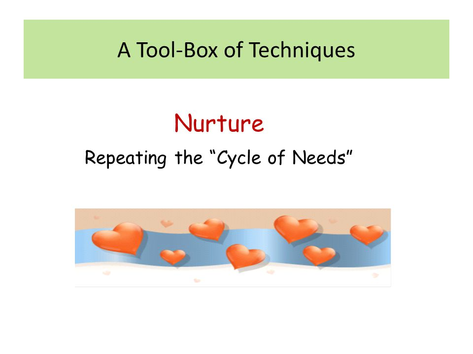 """Nurture Repeating the """"Cycle of Needs"""""""