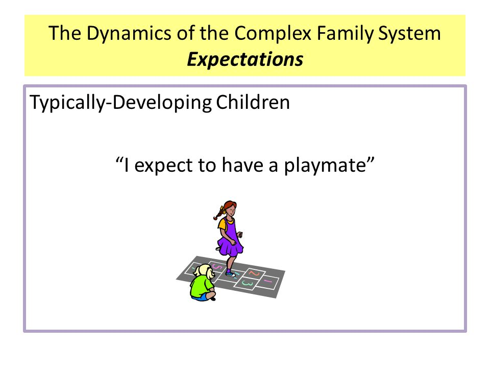 """Typically-Developing Children """"I expect to have a playmate"""" The Dynamics of the Complex Family System Expectations"""