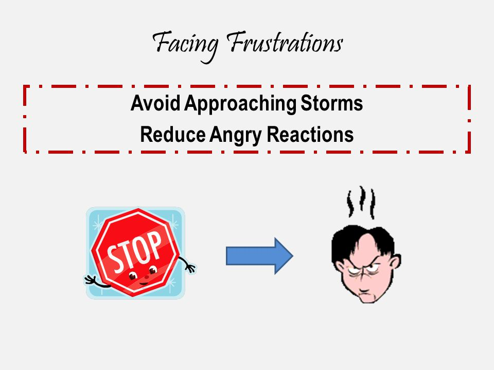 Facing Frustrations Avoid Approaching Storms Reduce Angry Reactions