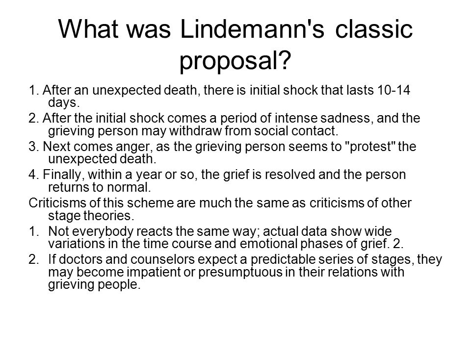 What was Lindemann s classic proposal. 1.