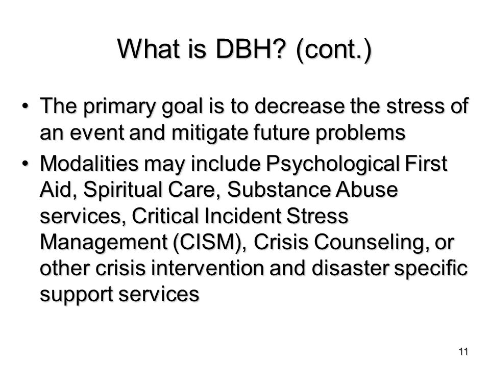 What is DBH.