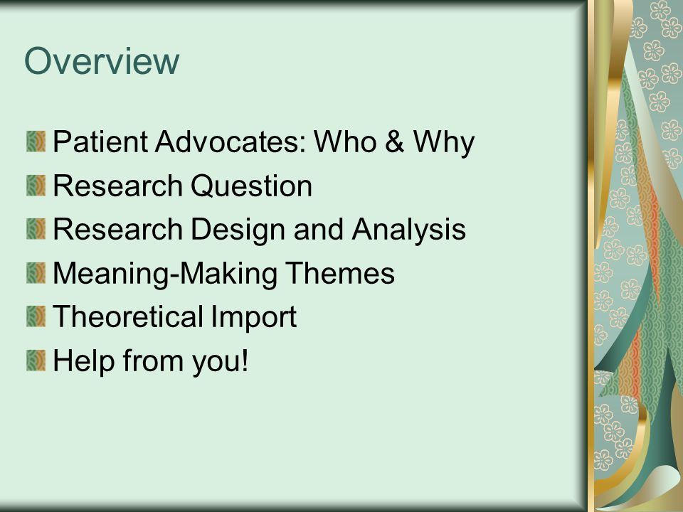 Who are Patient Advocates.