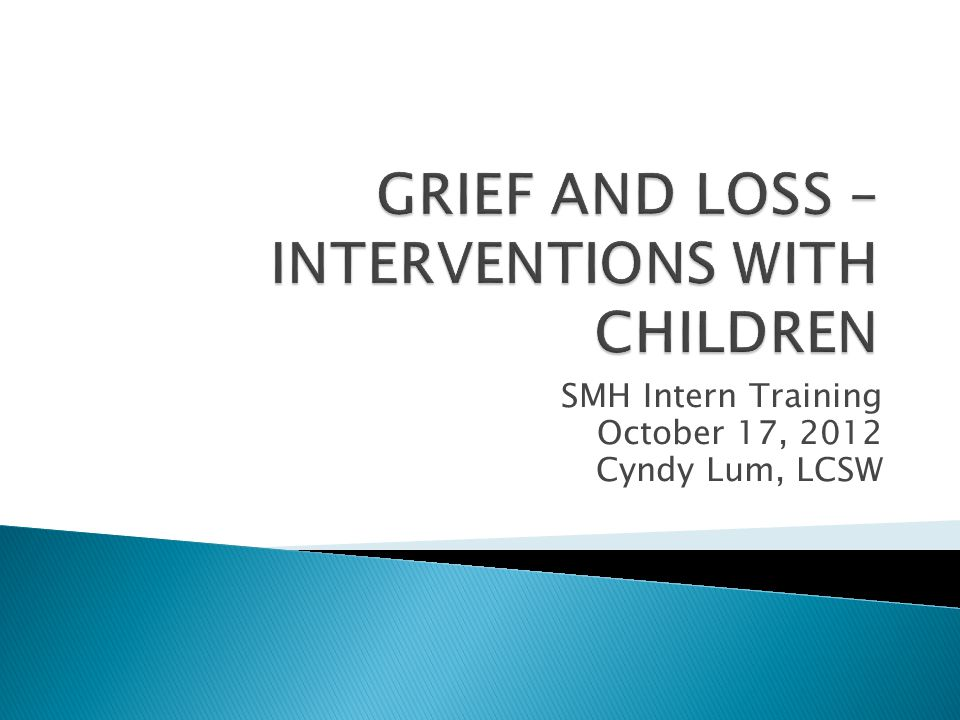 SMH Intern Training October 17, 2012 Cyndy Lum, LCSW