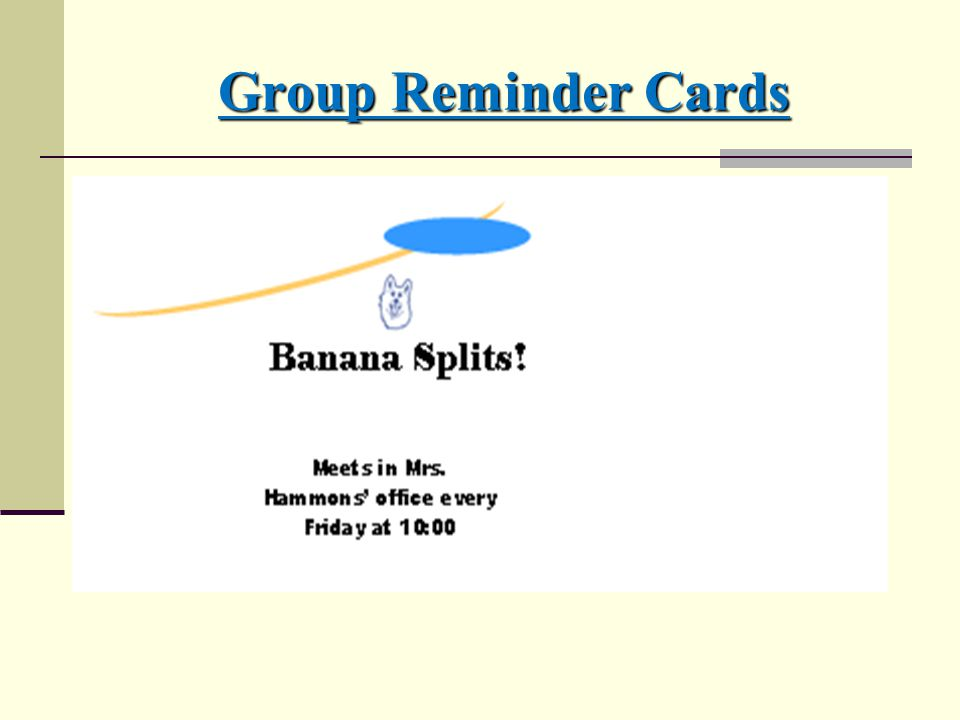 Group Reminder Cards