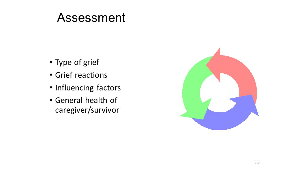 Assessment Type of grief Grief reactions Influencing factors General health of caregiver/survivor Glass et al., 2010 18