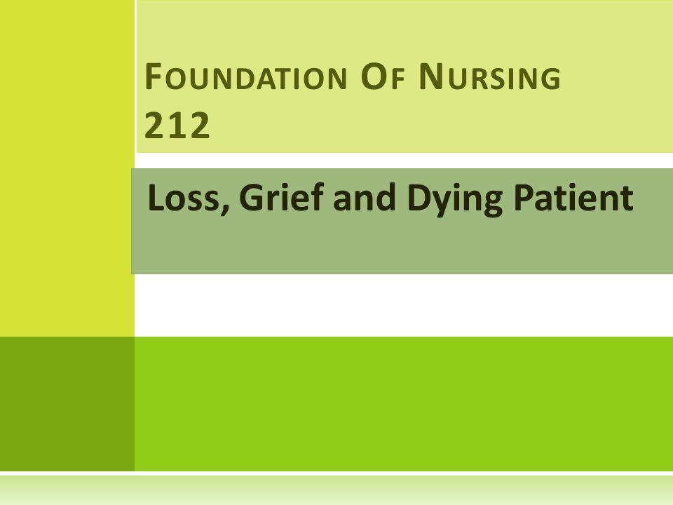 II-N URSING D IAGNOSIS Nursing diagnosis may include : 1- Grieving.