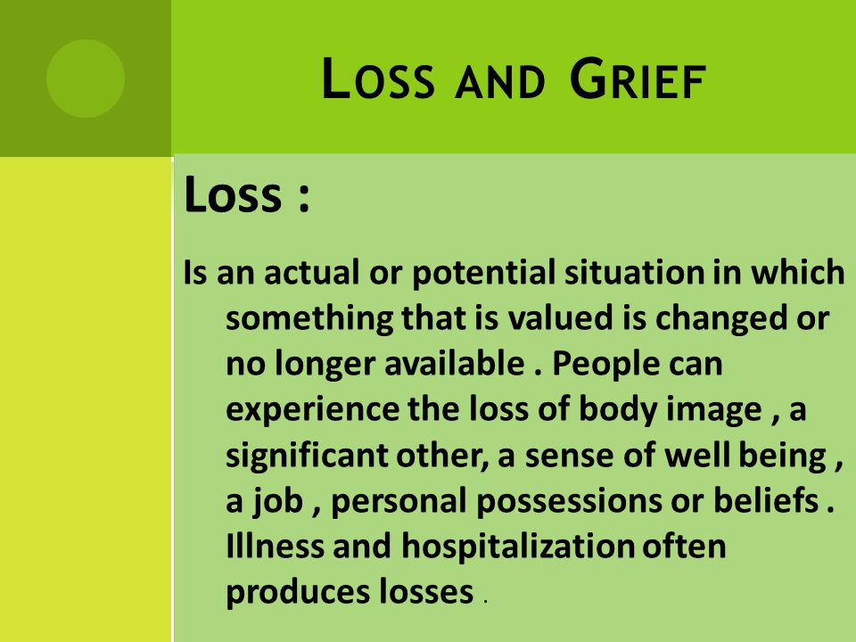 T YPES OF LOSS : There are only two types of losses : 1- Actual loss: Which can be recognized by others.