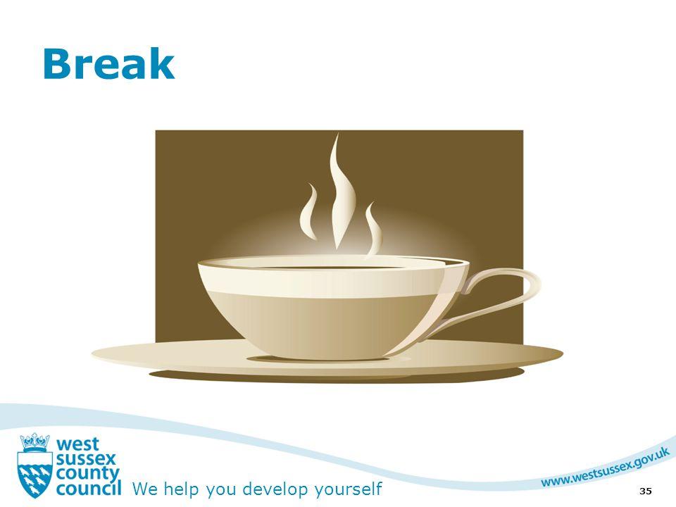 We help you develop yourself Break 35