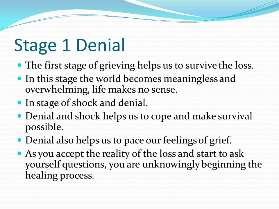 Stage 2 Anger Necessary stage of the healing process.