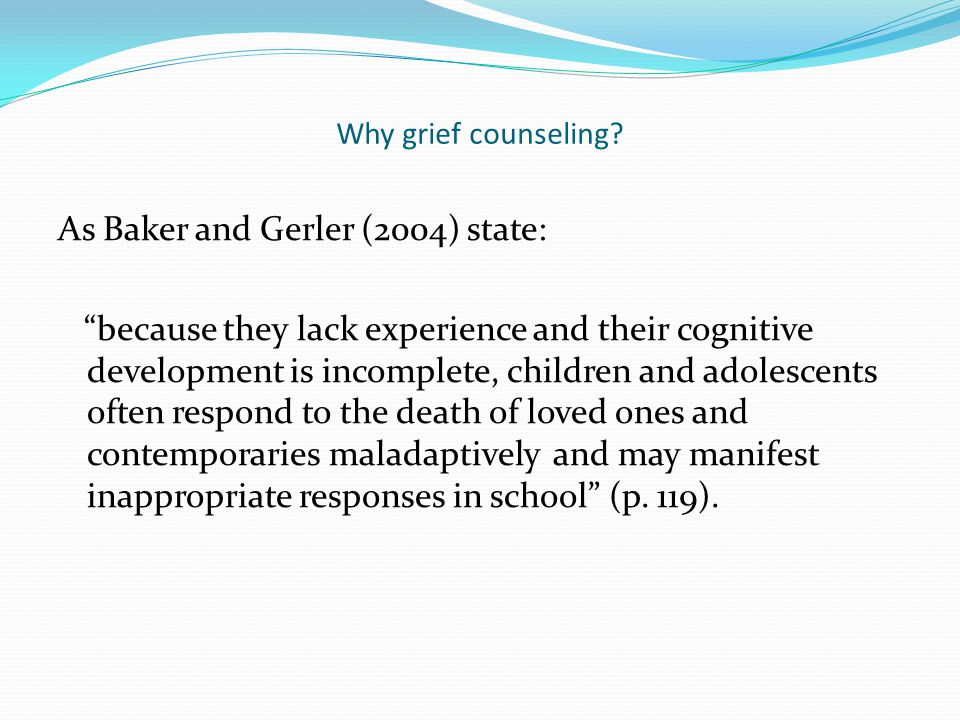 Preview Why grief counseling? What are the stages of grief? Grief does NOT affect everyone! What type of atmosphere should be maintained? Technology i