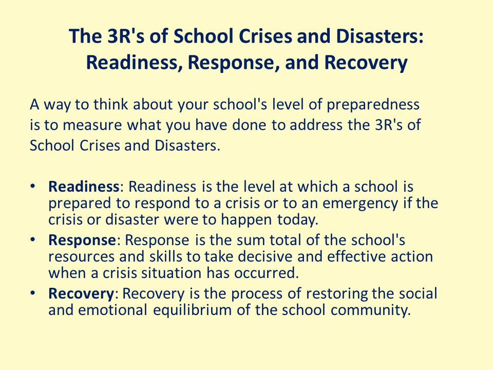 4-step model found in some research: Mitigation Preparedness Response Recovery