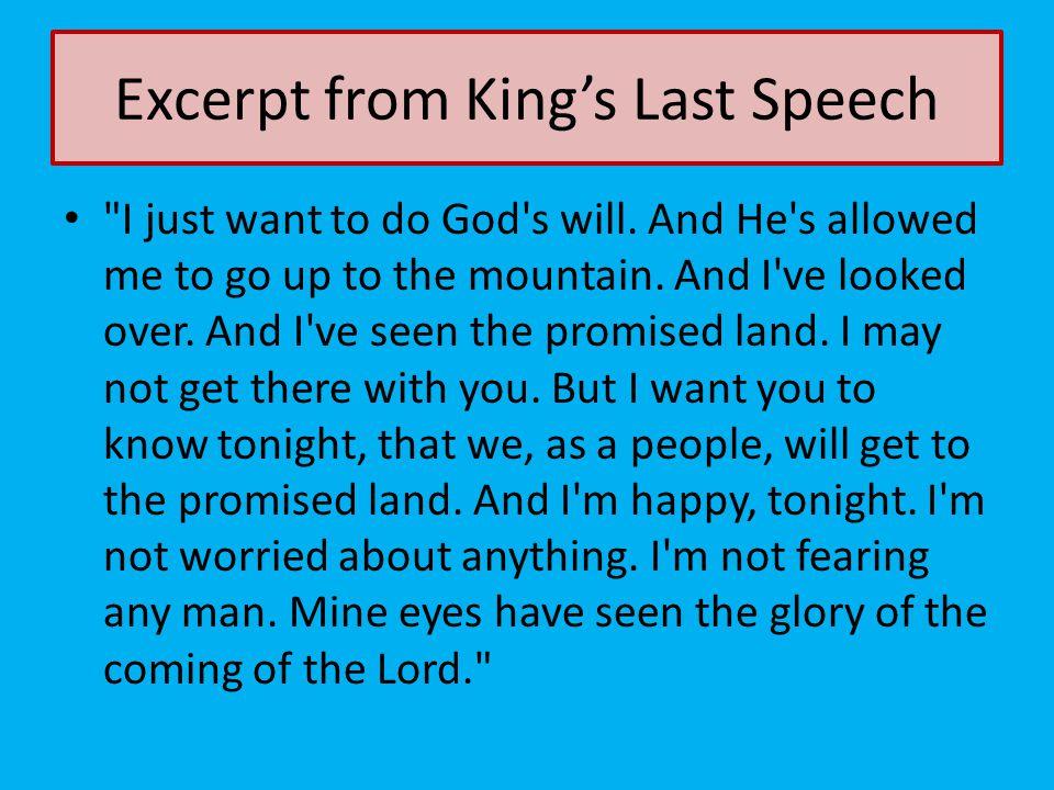 Excerpt from King's Last Speech