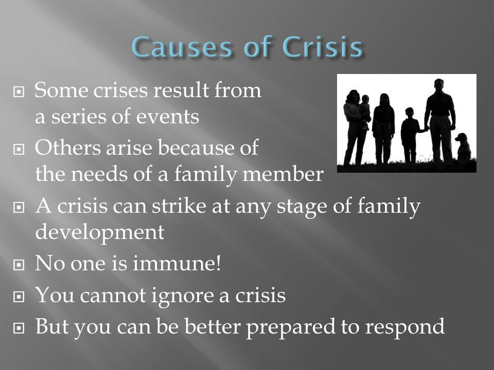  You can help in crisis.