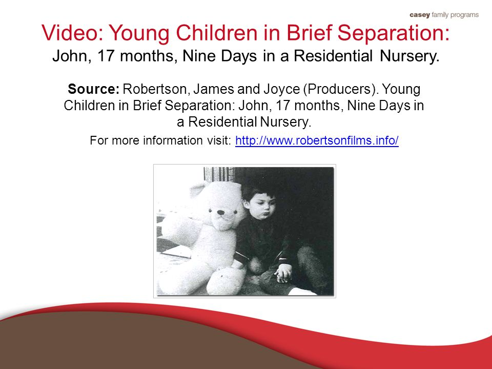 Video: Young Children in Brief Separation: John, 17 months, Nine Days in a Residential Nursery.