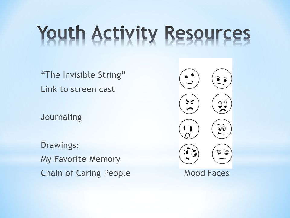 """""""The Invisible String"""" Link to screen cast Journaling Drawings: My Favorite Memory Chain of Caring PeopleMood Faces"""