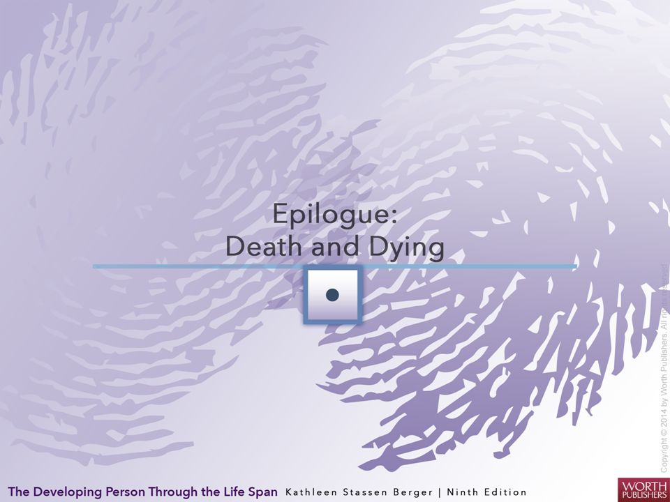 Death and Dying Thanatology Study of death and dying, especially the social and emotional aspects It reveals: the reality of hope in death.