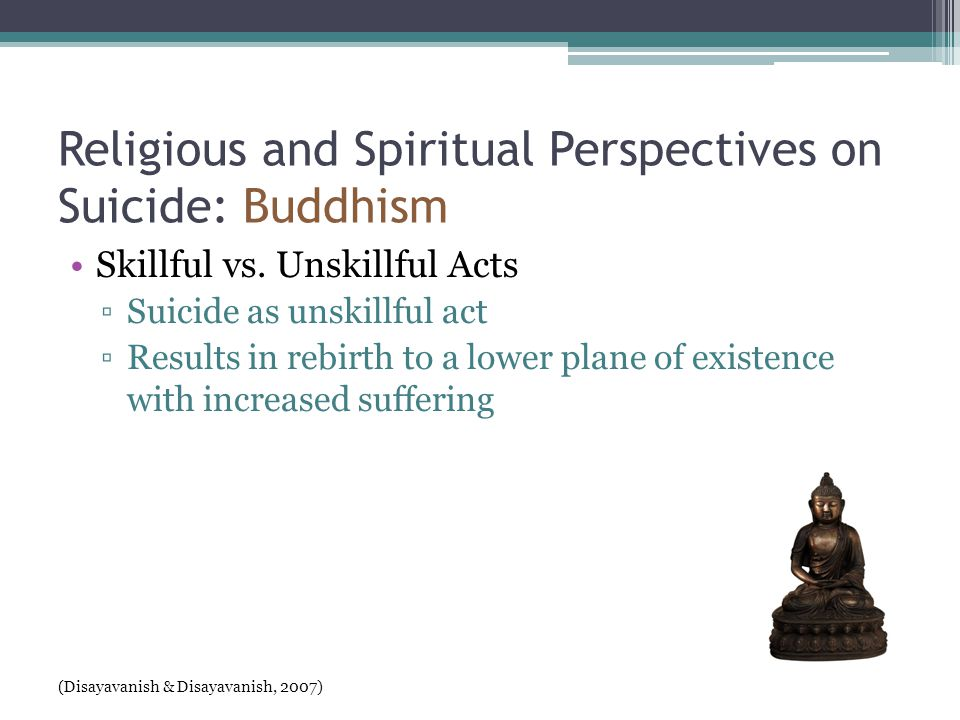 Religious and Spiritual Perspectives on Suicide: Buddhism Skillful vs.