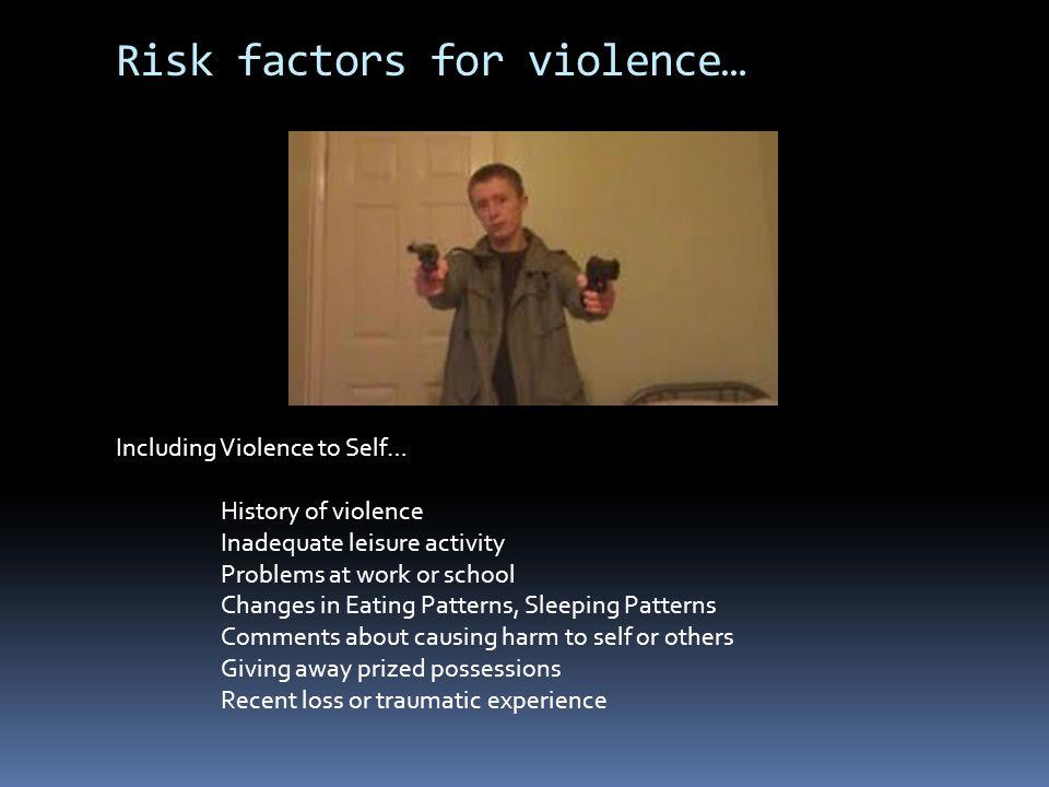 Risk Factors vs.