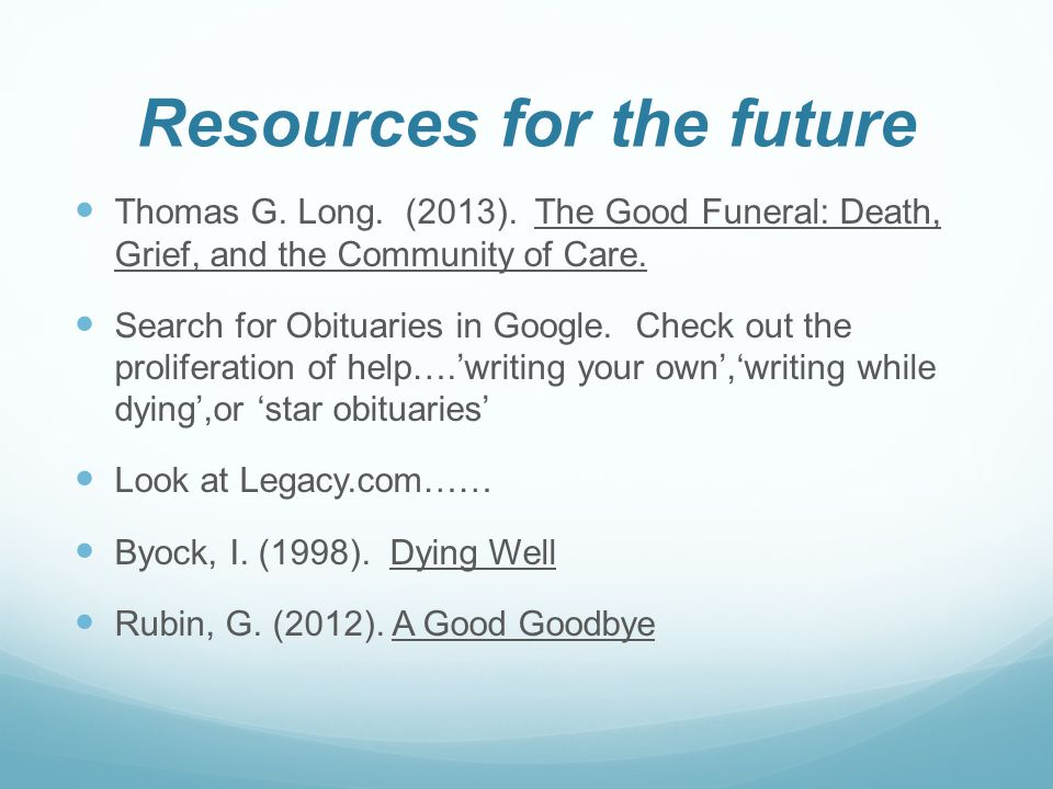 Resources for the future Thomas G.Long. (2013).