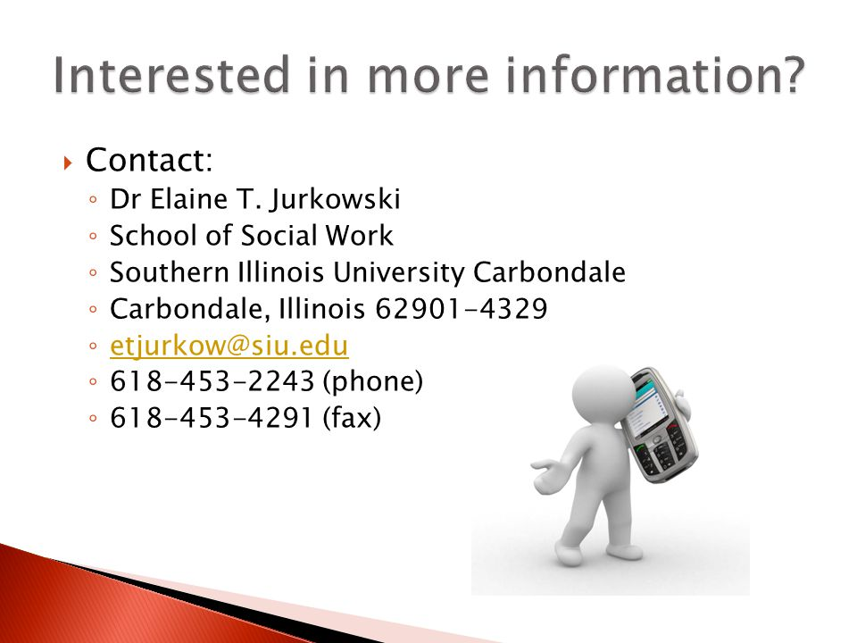  Contact: ◦ Dr Elaine T.