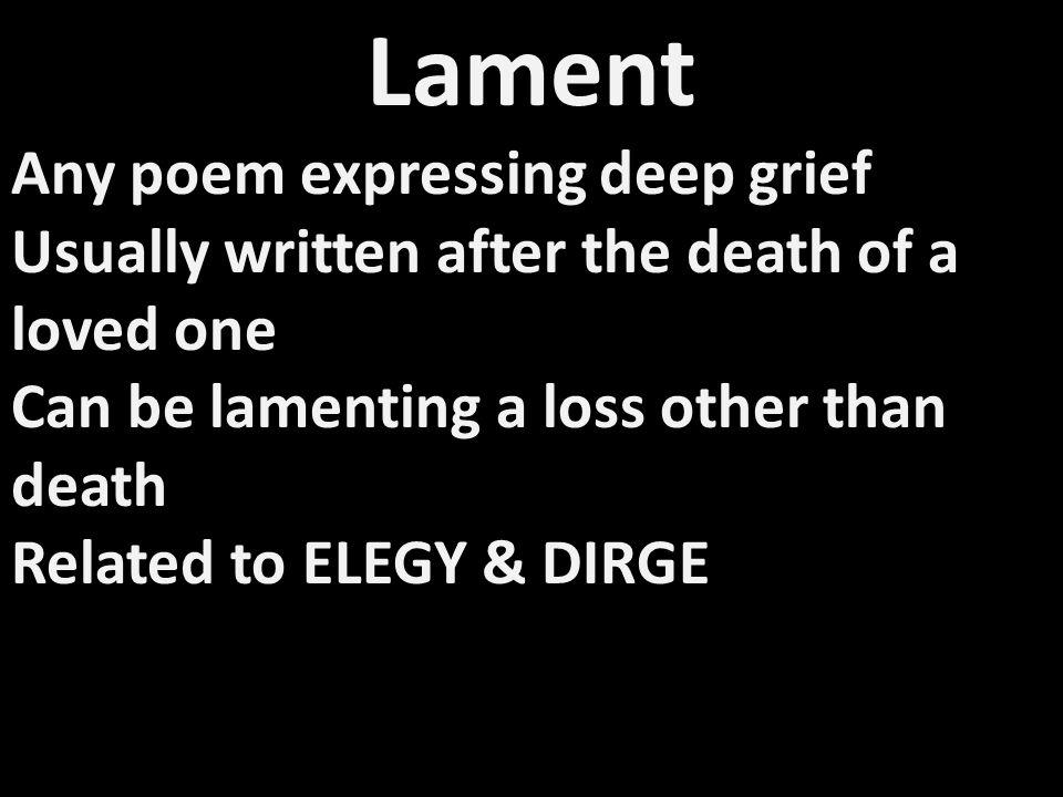 Lament by Edna St.Vincent Millay Listen, children: Your father is dead.