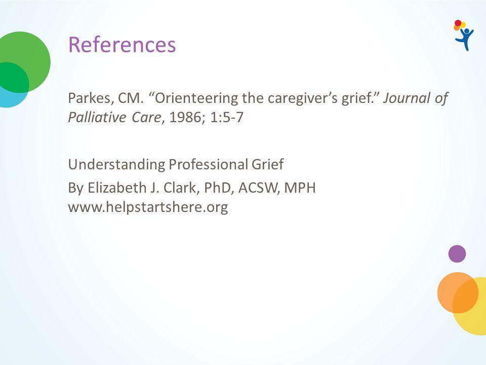 References Parkes, CM.