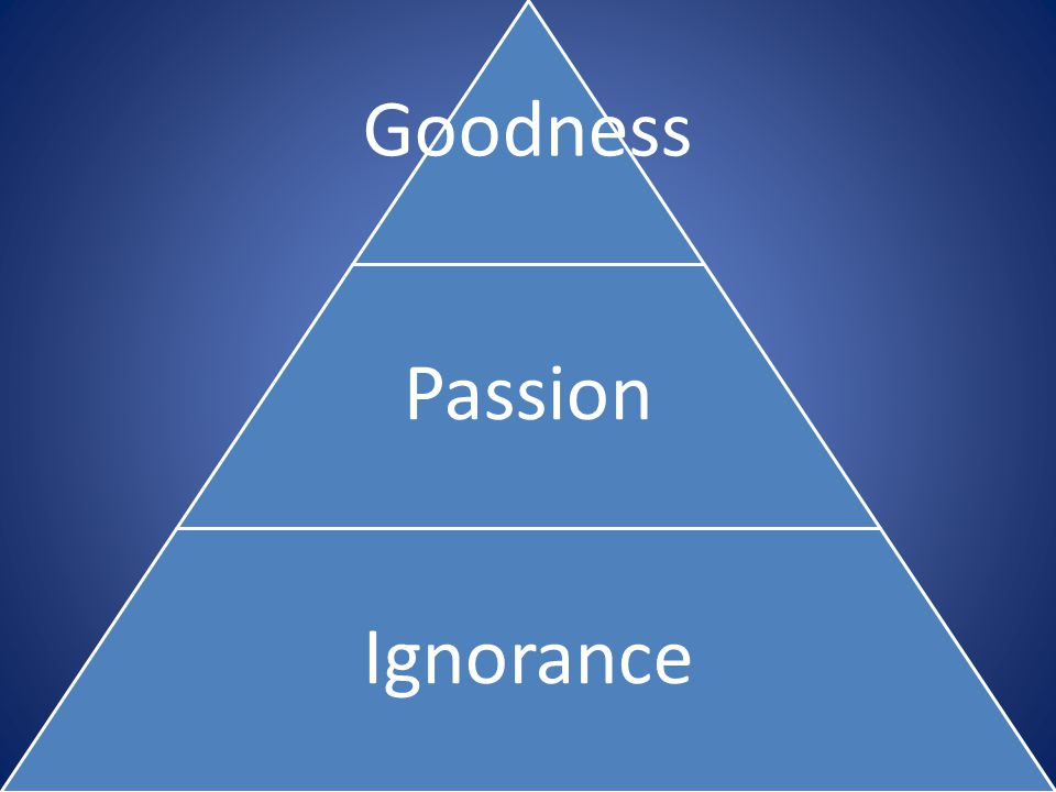 Goodness Passion Ignorance