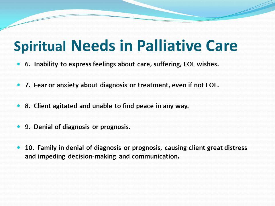 Spiritual Needs in Palliative Care 6.