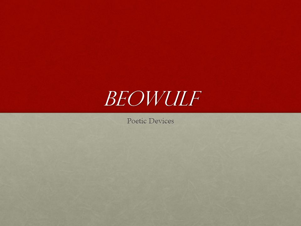 beowulf Poetic Devices