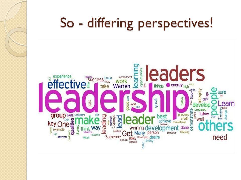 'Seeing' and 'feeling' leadership.