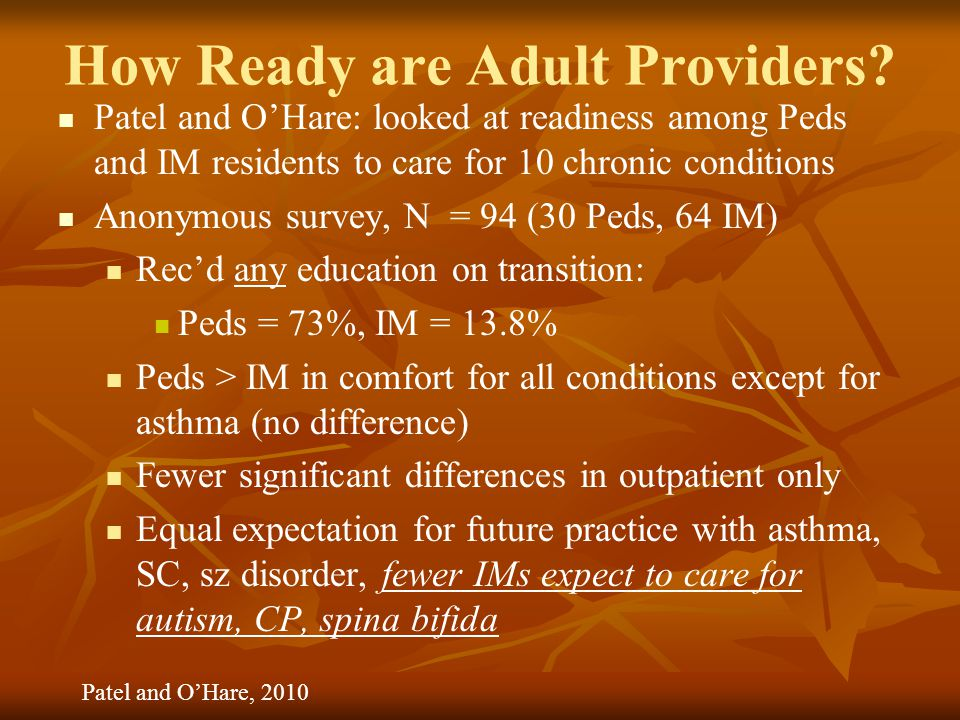 How Ready are Adult Providers.