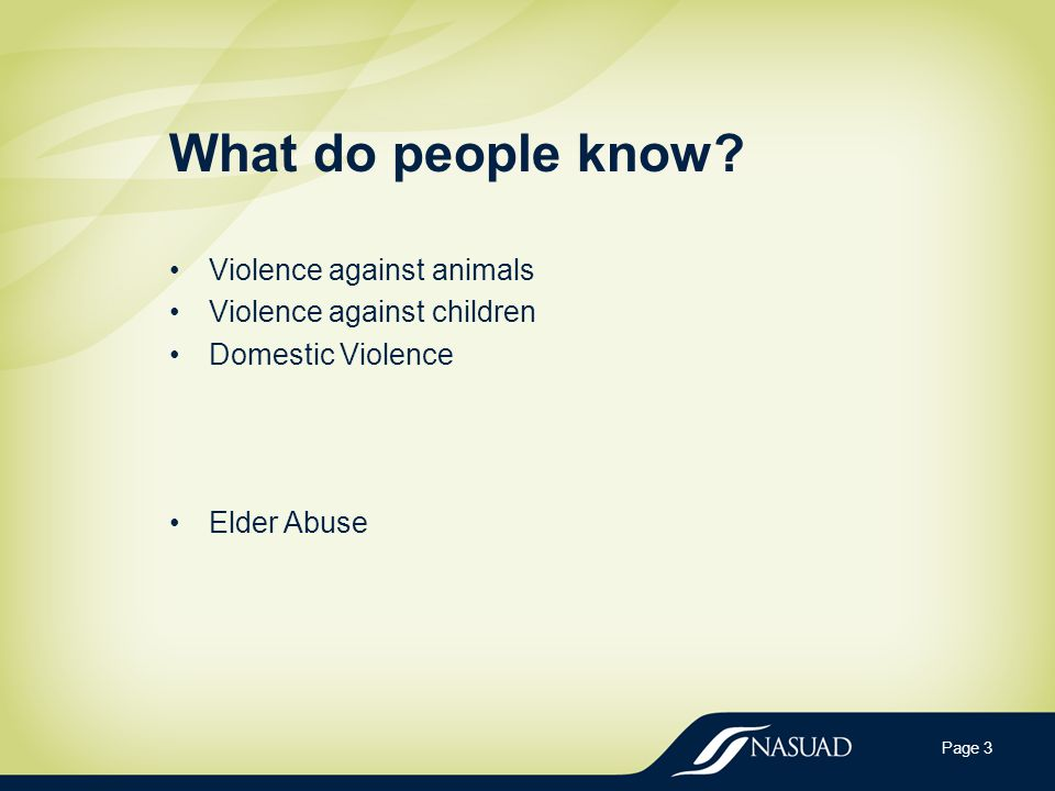 Learning Objectives Define and distinguish elder abuse and related phenomenon (e.g.