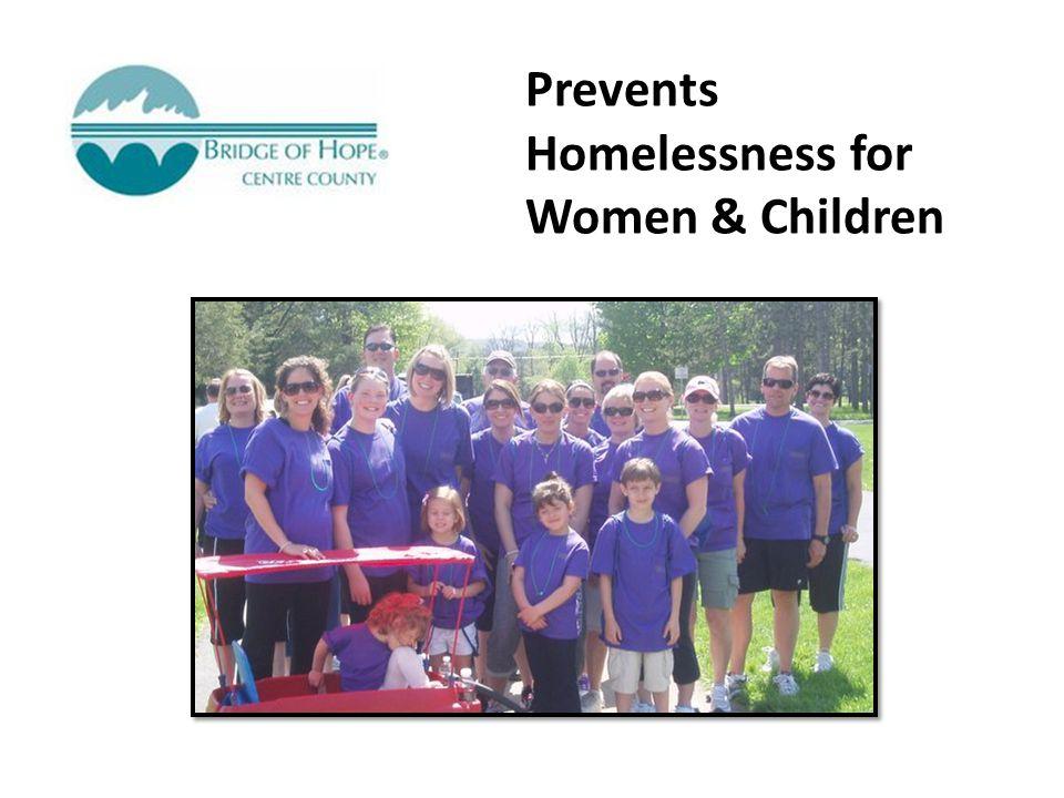 Prevents Homelessness for Women & Children