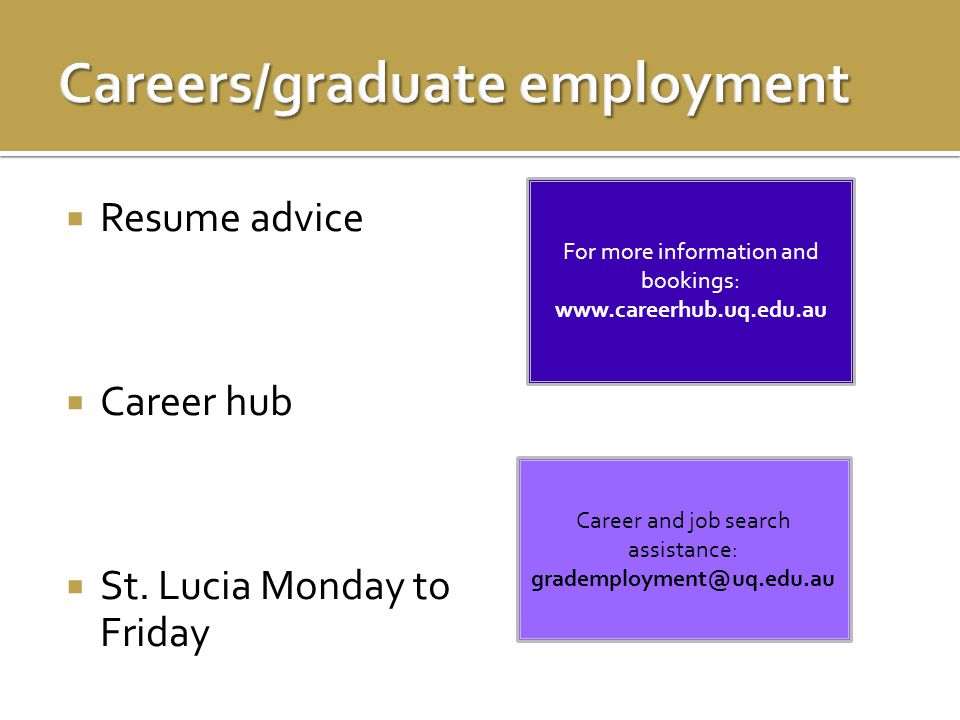  Resume advice  Career hub  St.