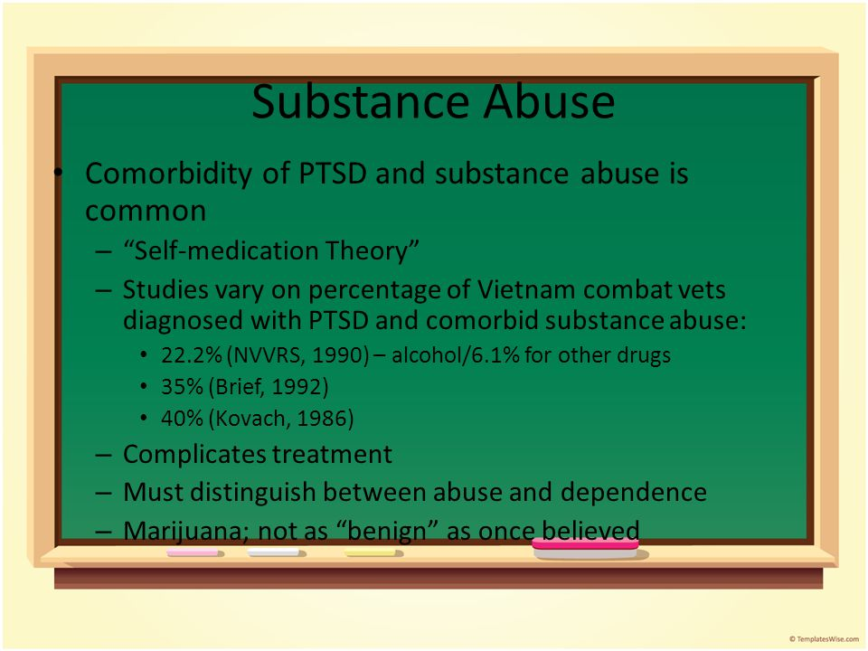 Comorbidity Depression Other Anxiety Disorders Axis II Disorders Dissociative Disorders