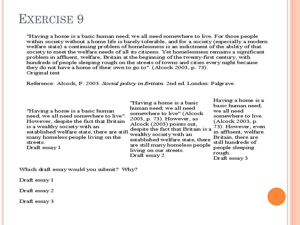 E XERCISE 9