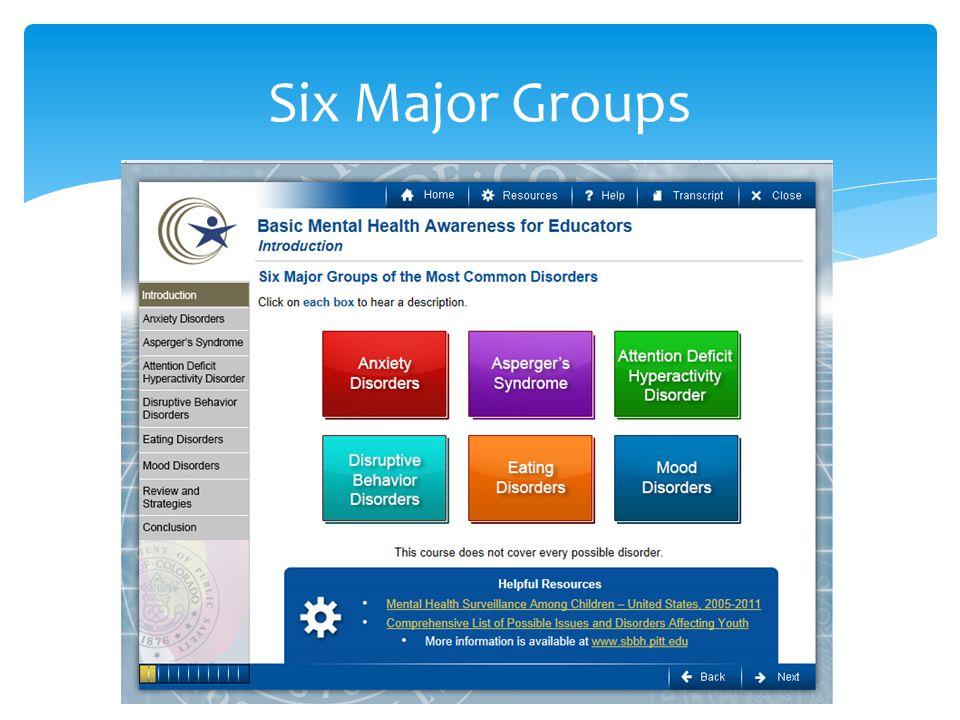 Six Major Groups